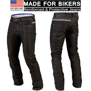 Mens-Motorcycle-Denim-Jeans-Black-Biker-Protective-Lining-Trouser-Stylish-Pants