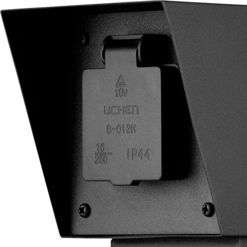 Extérieur Énergie Pilier Noir Cour de distribution d/'alimentation électrique 2 Fois En Acier Inoxydable Fourre-Boîte