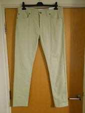 FARAH DRAKE SUPER SLIM FIT SEA FOAM 349 WAIST 34 LEG 32 JEANS