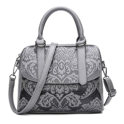 Womens Vintage Handbag Elegant National Flower Shoulder Bag Crossbody Purse Tote