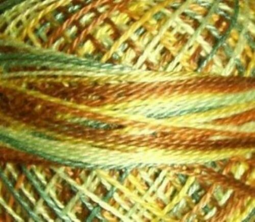 Valdani Perle Cotton Size 12 Embroidery Thread Sunny Forest Variegated V105