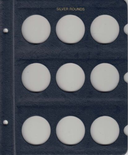 Silver Rounds New Coin Album Whitman Model 9150 Collectors Gift Free US Post