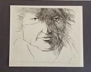Leonard-Baskin-034-Francisco-de-Goya-034-Mounted-offset-Lithograph-1973-PlateSigned