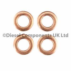 Seals x 4 DCS157 Mercedes-Benz Citan CDI Diesel Injector Copper Washers