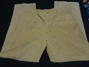 Image Is Loading Vtg 70s WRANGLER Size 38X32 Tan CORDUROY Cord