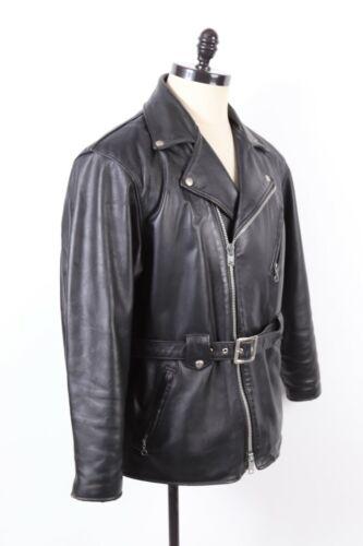 VTG SCHOTT PERFECTO Black Leather Motorcycle Coat
