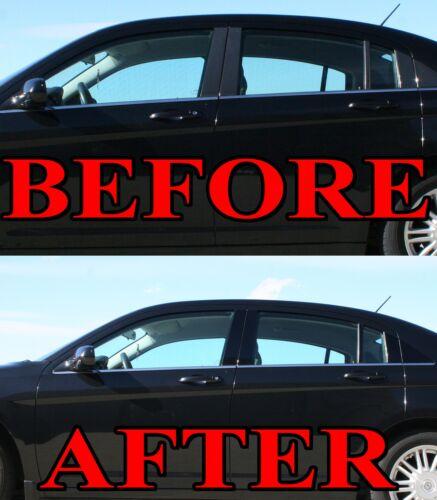 Black Pillar Posts for Jaguar XJ 11-15 8pc Set Door Trim Piano Cover Window