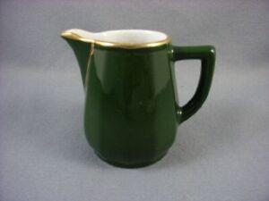 Apilco-Bistroware-Green-amp-Gold-Milk-Jug