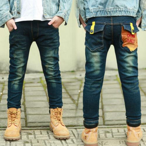 IENENS Boys Jeans Clothing Trousers Kids Boy Child Denim Pants Clothes Bottoms