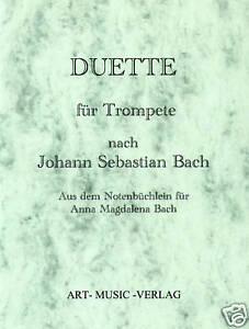 TROMPETE DUETTE NACH J.S. BACH ( NOTEN )