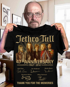 Jethro Tull 47th Anniversary 1967-2014 Signature Men T Shirt Cotton S-5XL Black
