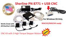 Sherline Pn 8771 Usb Cnc High Torgue Step Motors Mill Kit For Windows Os