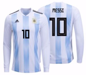 133a1f453 ADIDAS LIONEL MESSI ARGENTINA LONG SLEEVE HOME JERSEY WORLD CUP 2018 ...