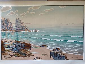 Henri-riviere-engraving-lithograph-bretonne-bretagne-marine-1900-wave-beach