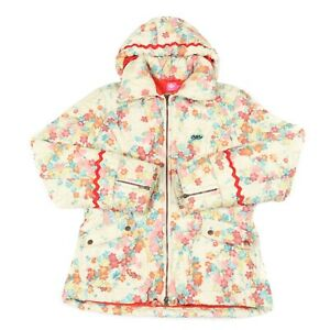 OILILY-Quilted-Fleece-Lined-Jacket-Padded-Insulated-Hooded-Ski-Vintage-Floral