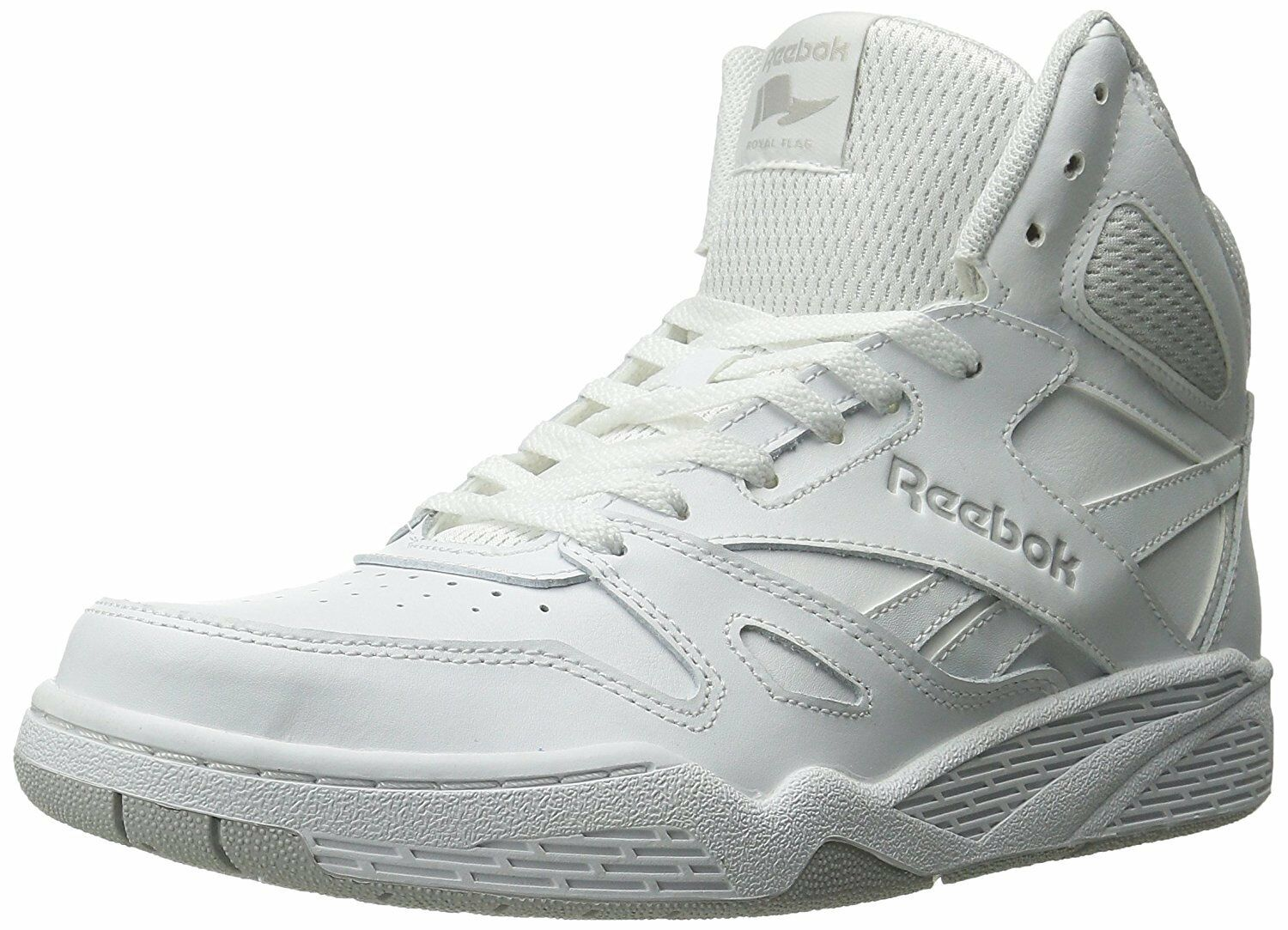 Reebok Uomo Royal Bb4500 Hi Fashion Sneaker, White/Steel, 13 M