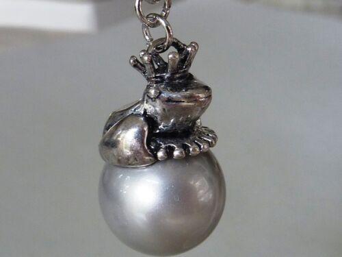 Remolque joyas para rana bettelkette muschelkern perle con corona de 6 cm 2666