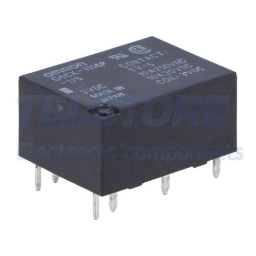 1pcs G6CK-1114P-US-3DC Relè elettromagnetico SPST-NO Ubobina 3VDC 10A//250VAC OMR