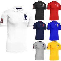 Mens Polo Tshirt Top Designer US Polo Assn Original T-Shirt Short Sleeve Cotton