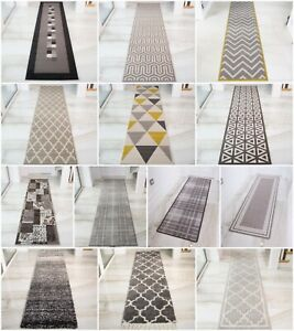 Modern-Extra-Long-Narrow-Grey-Hallway-Runners-Soft-Traditional-Rugs-For-Hall-NEW