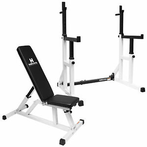 Adjustable Weight Bench Heavy Duty Squat Frame Rackweights