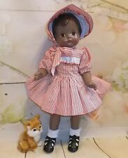 "PATSY JOAN Composition 30's Chocolate AA doll 16"" factory outfit CUTIE!"