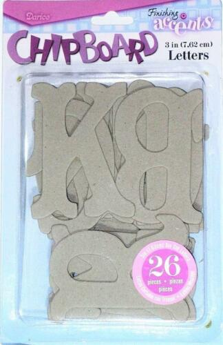 CHIPBOARD Letters ALPHABET Raw 3 inch  26 pieces Mixed Media Home Decor