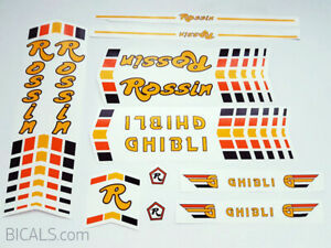 Set 3 Bicycle Decals Transfers Stickers Rossin