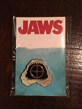 Mondo Exclusive Jaws Movie Screening Lapel Pin Smile Spielberg Enamel Pin Shark