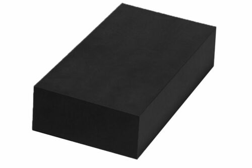 """HDPE Plastic Bar Stock black color 2/"""" x 3/"""" x 12/"""" for Machining"""