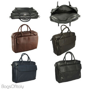 646f2ac0bf Giglio Italian Soft Leather Laptop Briefcase Business Satchel Bag ...