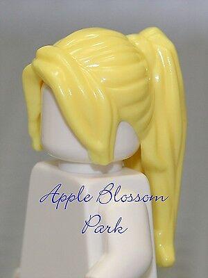 LEGO Female Minifig BLONDE PONYTAIL HAIR - Yellow Princess Cheerleader Head Gear