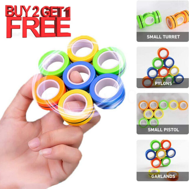 Relieve Stress and Anxiety Pocket-Size Compact Hobby Gift for Adult /& +14 Kids Fast Fidgeting Spinner To Improve Focus 2 Fidget EDC Toy For Home or Travel High Speed Bearing Rubiks Spin Cubelet
