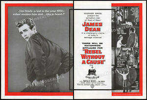 REBEL-WITHOUT-A-CAUSE-Original-1955-Theatre-Trade-AD-promo-poster-JAMES-DEAN