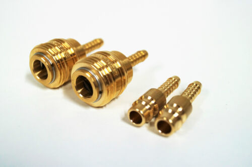 2x aria compressa FRIZIONE 10mm stecknippel steckkupplung Connettore Tubo durckluf