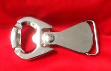 RING PULL CHROME LAGER BEER BOTTLE OPENER STUBBY ALE BELT BUCKLE