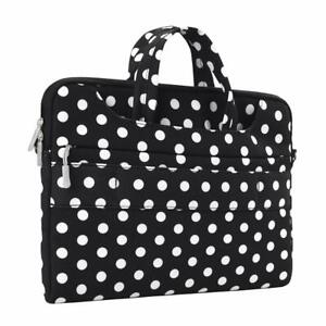 MacBook-Air-13-Sleeve-Case-Durable-Stylish-Crossbody-Handle-Bag-Black-White-Dots