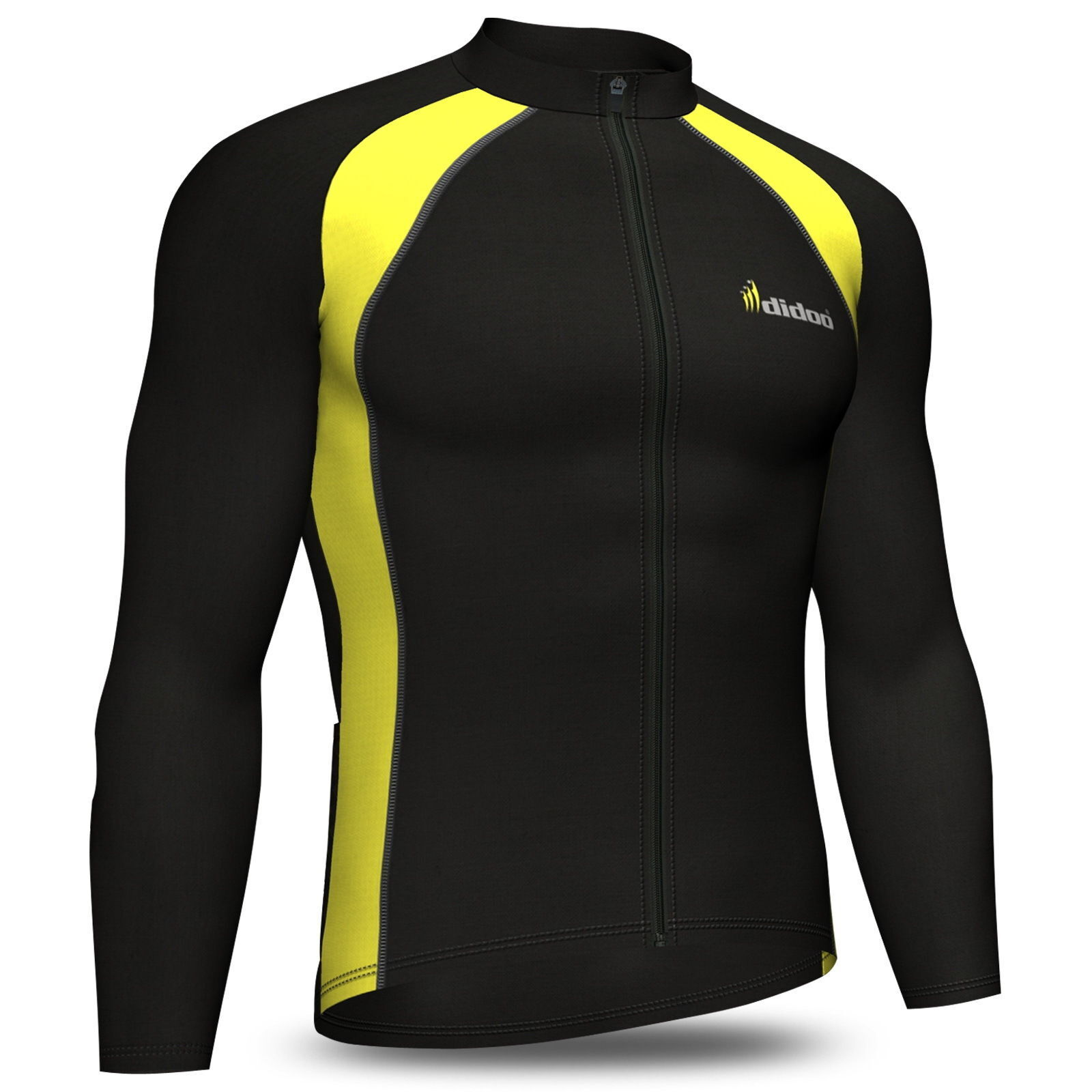 Didoo mens long sleeve cycling jersey Thermal Jacket full ...