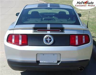 """Racing Rally 10/"""" Hood Roof Trunk Stripes Graphics Decals fits 2010-2012 Mustang"""
