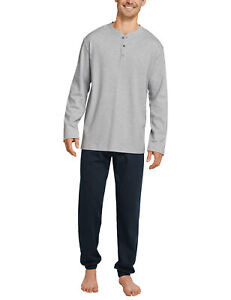 Kleidung & Accessoires Schiesser Premium Herren Schlafanzug Pyjama Lang Interlock Blau Neu *uvp 69,95 Hell In Farbe Herrenmode