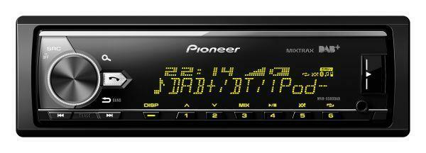 Pioneer MVH-X580DAB - MP3-Autoradio mit DAB Bluetooth USB iPod AUX-IN - 580 DAB