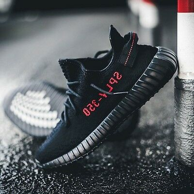 2017 ADIDAS YEEZY BOOST 350 V2 KANYE WEST BRED CORE BLACK RED NMD R1 CP9652 10 | eBay