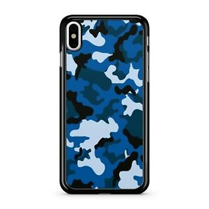 purchase cheap 9496f 2ec40 Details about Blue Mixed White Fine Black Army War Soldier Camo Print 2D  Phone Case Cover