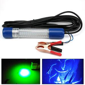 12V-LED-Peche-ECLAIRAGE-POUR-CREVETTES-ET-POISSON-Calmar-sous-l-039-eau-bleu-Vert