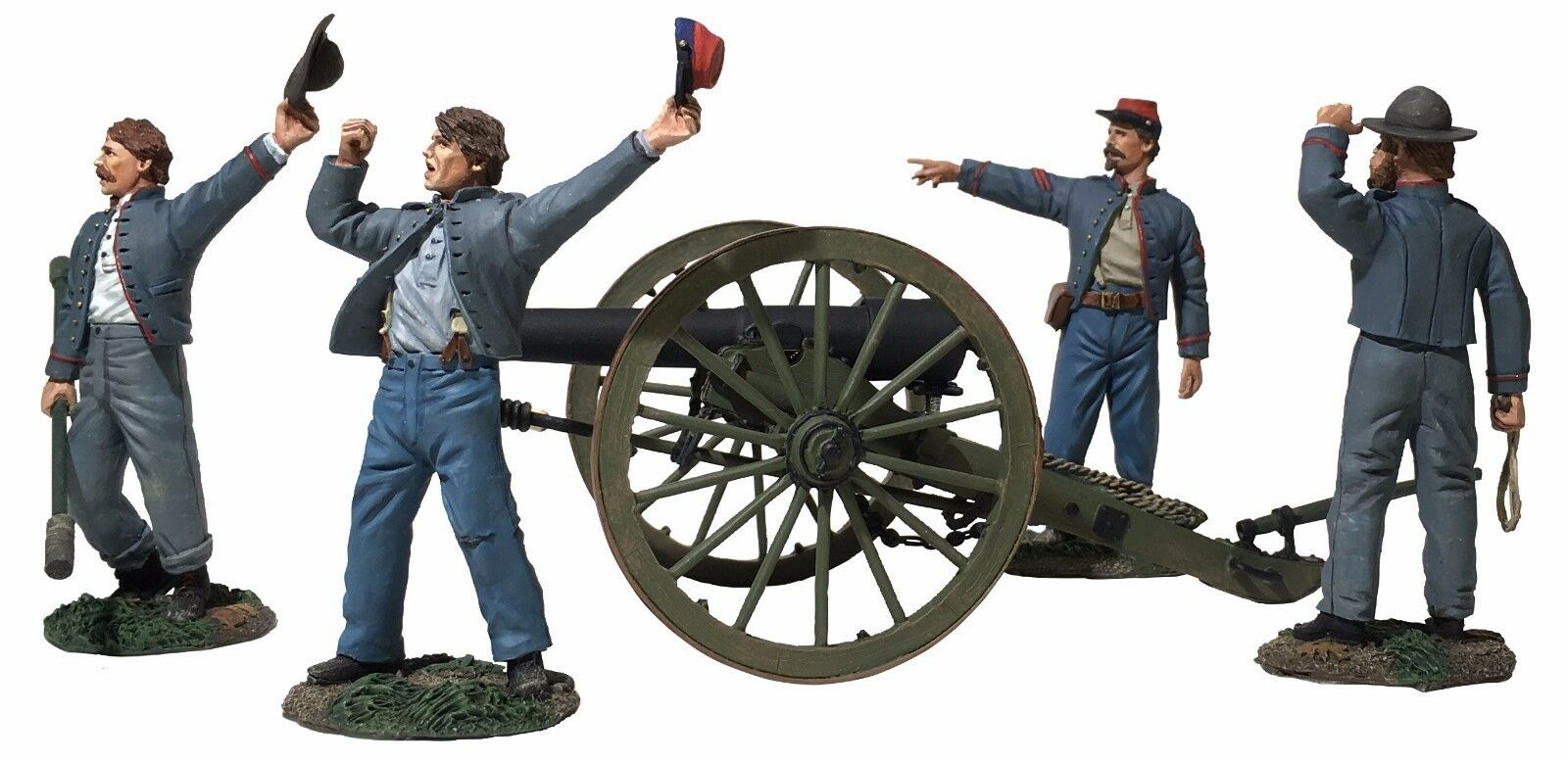 """W Britain 31264 """"We Hit 'em Boys """" Confederate 10-Pound Parrott Gun - 6 Pc Set"""
