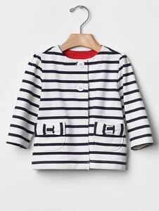 GAP Baby Girl Size 0-3 Months White Crewneck Button-Down Cardigan Sweater
