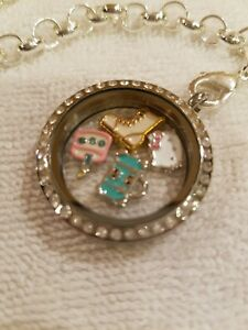 Hello kitty veterinary floating memory locket necklace 4 charms image is loading hello kitty veterinary floating memory locket necklace 4 aloadofball Image collections