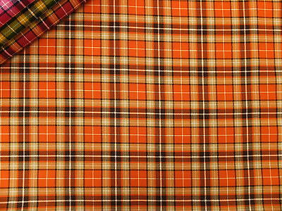 Suntone Tartan Check Medium Weight 100% Cotton Fabric per metre