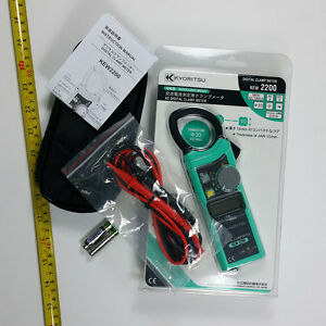 Digital-Clamp-Meter-Kyoritsu-2200-AC-DC-1000A-Slim-Handy-design-Korea
