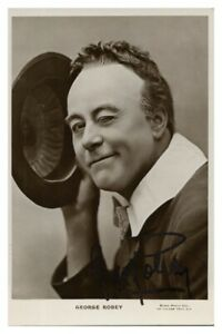 Antique-George-Robey-hand-signed-autograph-photographic-postcard-actor